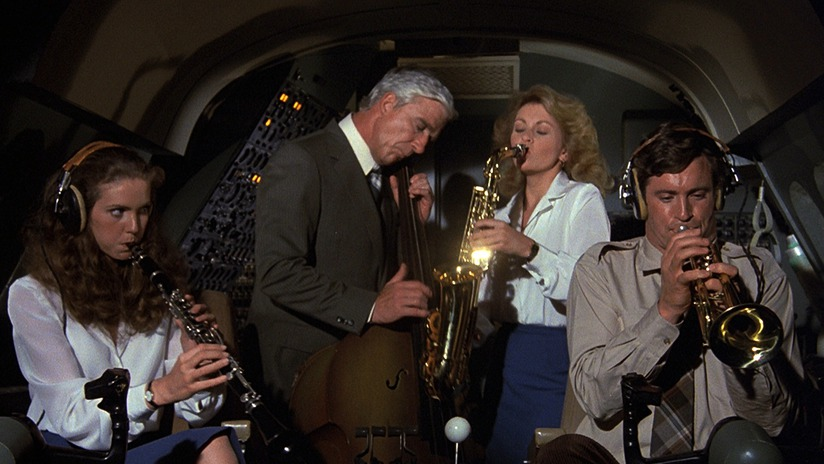 The crew from Airplane! flying on instruments.